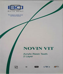 دندان مصنوعی نوین ویت (ست کامل شامل آکریلیک 2 لایه 3 پخت)